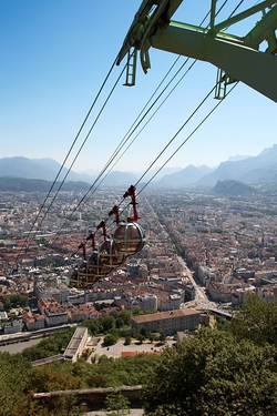 The Bastille Cable Car in Grenoble (France)